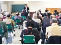 本町支店での説明会、講師は石黒税理士