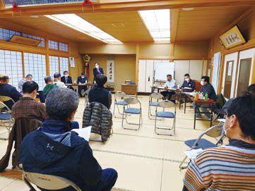 上林での集落座談会